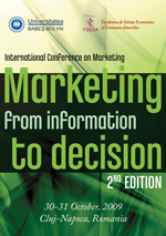 The Proceedings of the International Conference Marketing – from Information to Decision