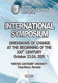 INTERNATIONAL SYMPOSIUM DIMENSIONS OF CHANGE AT THE BEGINNING OF THE XXIST CENTURY OCTOBER 23-24, 2009