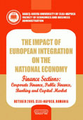 The Impact of the European Integration on the National Economy. Finance Sections: Corporate Finance, Public Finance, Banking and Capital Market