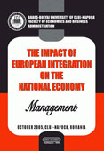 The Impact of the European Integration on the National Economy. Management.
