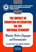 The Impact of the European Integration on the National Economy. Business Modern Languages and Communication
